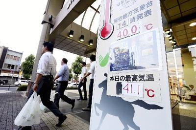 日本列島各地で厳しい暑さ続く