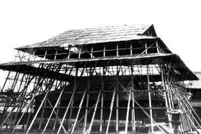 法隆寺金堂が炎上(1949年1月)