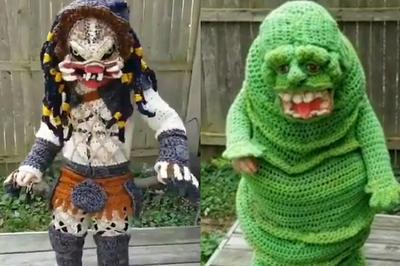 【話題】ハロウィン用衣装を編んで作った母