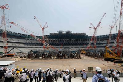 新国立競技場の工事状況を公開