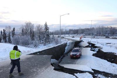 アラスカでM7.0の地震