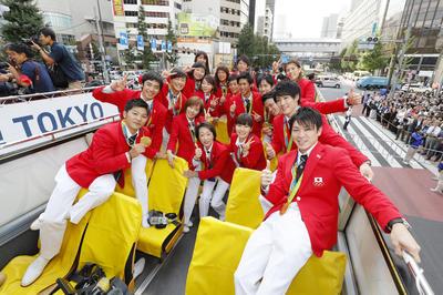リオ五輪 日本代表 メダリストパレード