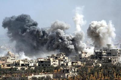 シリア東グータ地区空爆
