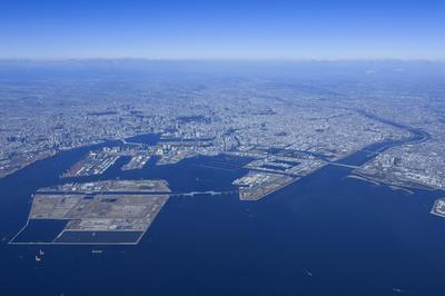 東京オリンピック予定地の空撮