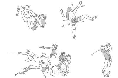 スポーツイラスト タッチ 09