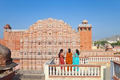 ラージャスターン州のジャイプル市街(インド)