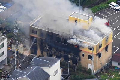 7月14日 京都アニメーションのスタジオで火災 35人が死亡