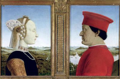 フランチェスカ「ウルビーノ公夫妻の肖像」