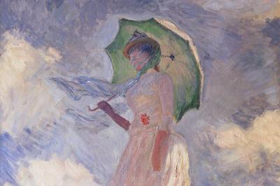 モネ「日傘をさす女性」