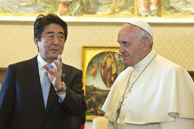 安倍首相、教皇フランシスコと会談
