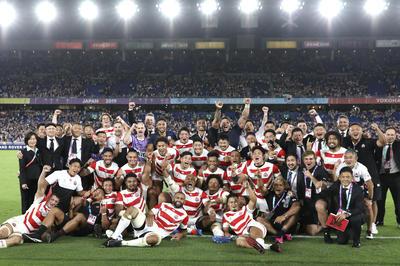 10月13日 ラグビーW杯 日本代表が初のベスト8進出
