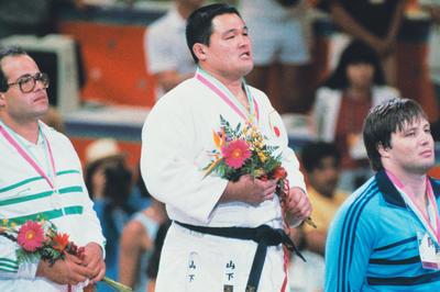 山下泰裕が無差別級で金メダル獲得