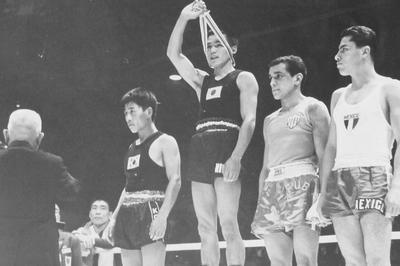 桜井がボクシングで日本人初の金メダル