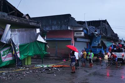 フィリピンのミンダナオ島で地震