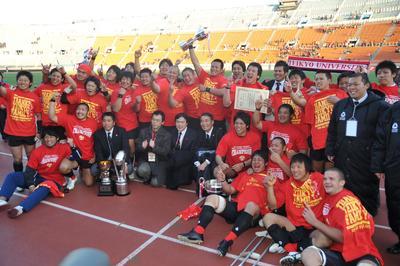 ラグビー、帝京が悲願の大学日本一 (2010年1月10日)