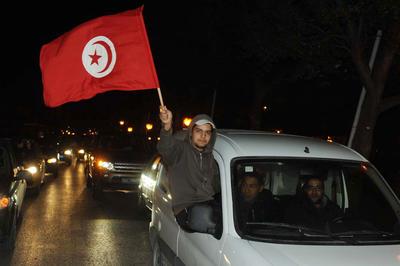 チュニジア政権崩壊(2011年1月14日)