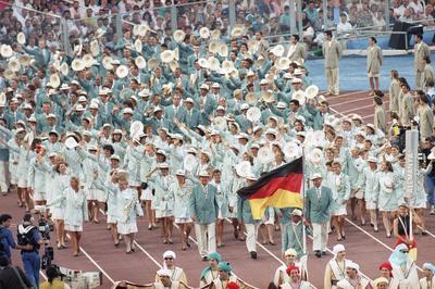 東西ドイツが統一されて初めての参加