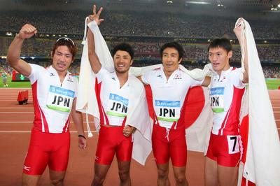 日本が4x100mリレーで銅メダル獲得