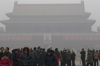 中国の大気汚染が深刻化(2013年)