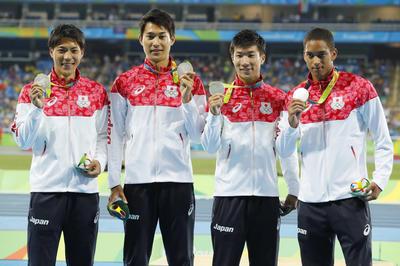 陸上・男子4x100mリレーで日本が銀メダル