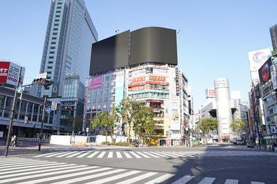 緊急事態宣言の前と後 東京の街並み