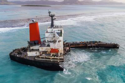 8月6日 商船三井の貨物船がモーリシャス沖で座礁
