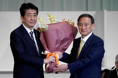 9月14日 自民党総裁選 新総裁に菅氏を選出