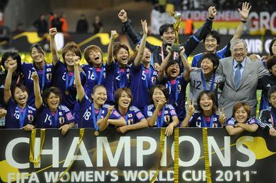 なでしこジャパン、W杯優勝から10年(2011年7月17日)