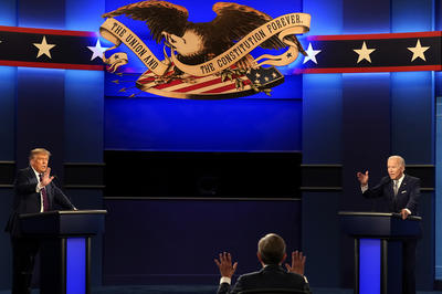9月29日 米大統領選第1回討論会 両候補が「初対決」