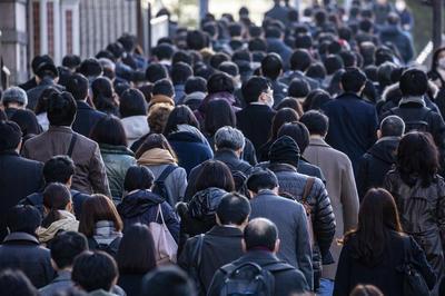 日本の通勤風景