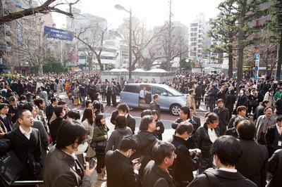 東京など関東(震災当日や帰宅難民)
