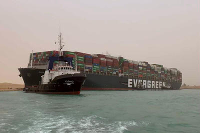 3月24日 スエズ運河で大型コンテナ船が座礁 1週間近く航路を遮断