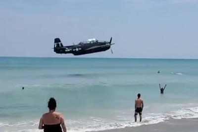 【話題】飛行機が不時着水