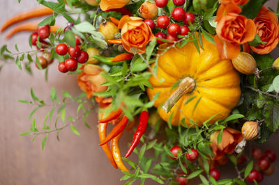 秋のフラワーアレンジメント