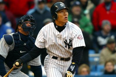 2003年4月8日 本拠地デビュー戦でメジャー初本塁打