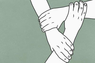「きずな・つながり」を感じるイラスト素材