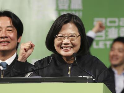 台湾総統選挙 蔡英文氏が再選
