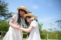 公園の日本人の女の子