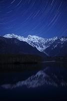 月光の穂高岳