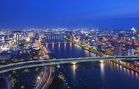 新潟県 新潟市 朱鷺メッセ展望室からの眺め