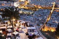 ギリシャ アテネ  リカヴィトスの丘のレストラン
