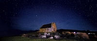 ニュージーランド 善き羊飼いの教会 星空