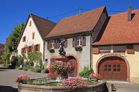 フランス アルザス地方 ワイン街道沿いの村プファッフェンハイム