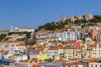 ポルトガル サンタ・ジュスタのエレベーター展望台からリスボン...