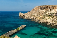 マルタ ポパイ村 アンカーベイと地中海