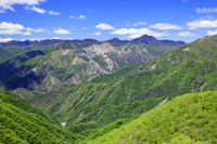 栃木県 足尾の治山事業 緑化