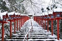 京都府 京都市 貴船神社 雪景色