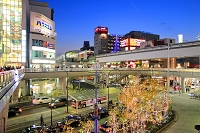 東京都 クリスマス・イルミネーションの立川駅前