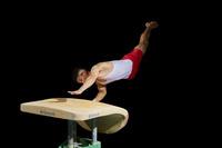 男子体操選手 跳馬