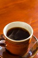 飲み物 コーヒーと湯気